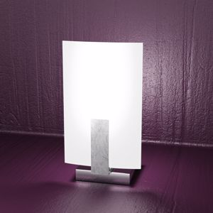 Picture of TOP LIGHT BEDSIDE LIGHT WOOD SILVER LEAF SATIN GLASS