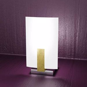 Picture of TOPLIGHT WOOD BEDSIDE LAMP IN WOOD GOLD LEAF