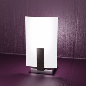 Picture of TOP LIGHT BEDSIDE LIGHT CHROME BASE WOOD WENGE SATIN GLASS