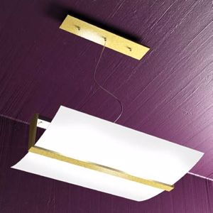 Picture of TOPLIGHT WOOD MODERN SUSPENSION WOOD GOLD