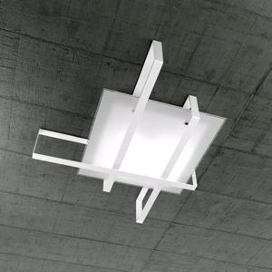 Picture of TOP LIGHT CROSS CEILING LAMP 99CM WHITE METAL AND GLASS