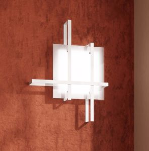 Picture of OP LIGHT CROSS CEILING LAMP 51CM WHITE METAL AND GLASS