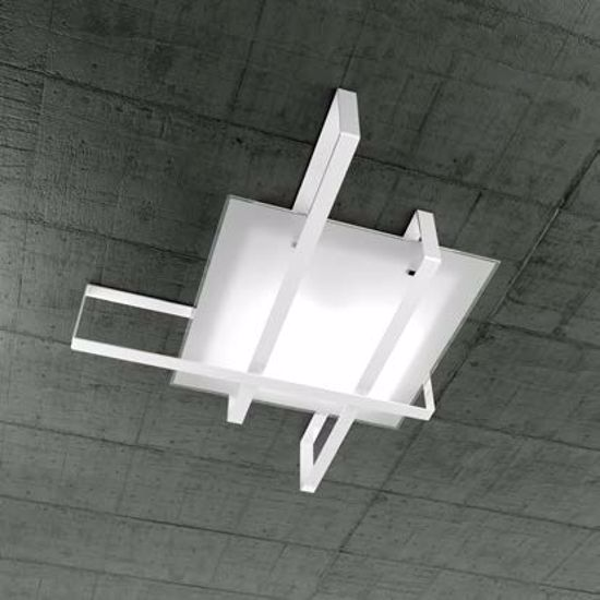 Picture of OP LIGHT CROSS CEILING LAMP 71CM WHITE METAL AND GLASS