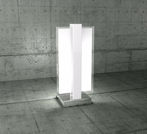 Picture of TOP LIGHT CROSS BEDSIDE LIGHT WHITE METAL AND GLASS