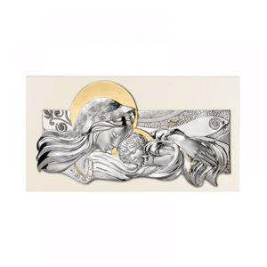 Picture of MEMORY ART ABOVE BED MOTHER WITH CHILD SILVER GOLD LEAF CREAM