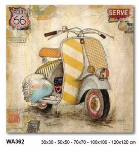 Picture of MANIE WALL ARTWORK VESPA PIAGGIO ROUTE 66 ON CANVAS 100X100