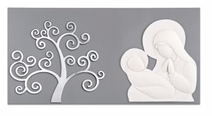 Picture of MEMORY ART ABOVE BED MOTHERHOOD TREE OF LIFE GREY