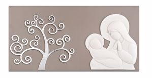 Picture of MEMORY ART ABOVE BED MOTHERHOOD TREE OF LIFE DOVE GREY