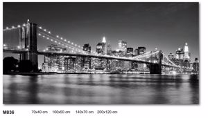 Picture of WALL ART BROOKLYN BRIDGE 70X40 BLACH AND WHITE CANVAS PRINT