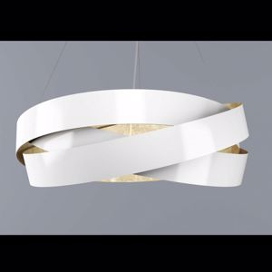 Picture of MARCHETTI PURA SUSPENSION Ø100CM E27 WHITE AND GOLD LEAF