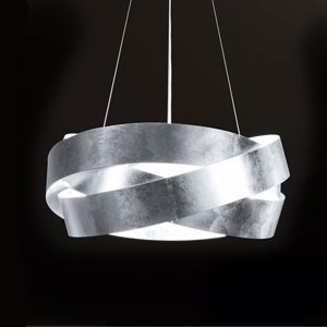 Picture of MARCHETTI PURA LED SUSPENSION Ø100CM SILVER LEAF