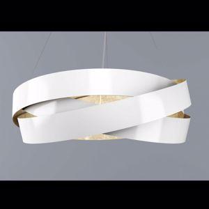 Picture of MARCHETTI PURA LED SUSPENSION Ø100CM WHITE GOLD LEAF