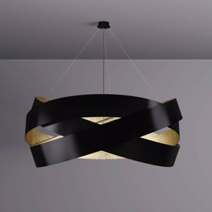 Picture of MARCHETTI PURA LED SUSPENSION Ø100CM BLACK AND GOLD LEAF