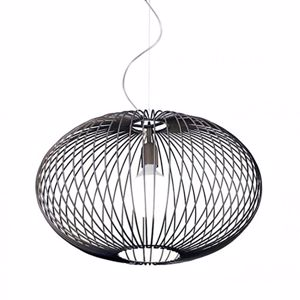 Picture of GIBAS TITTI BLACK VINTAGE PENDANT LIGHT Ø60CM MODERN DESIGN