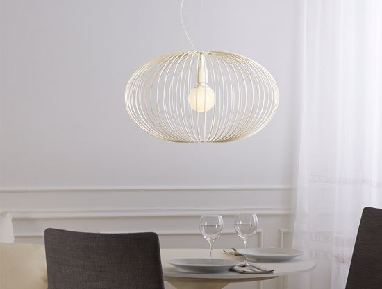 Picture of GIBAS TITTI IVORY SUSPENSION LIGHT Ø60CM MODERN DESIGN