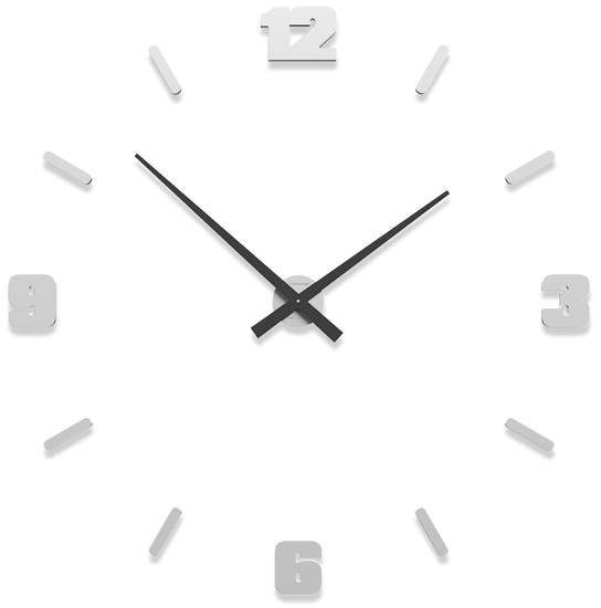 Picture of CALLEA DESIGN MICHELANGELO WHITE MODULAR WALL CLOCK  Ø100CM