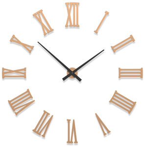 Picture of CALLEA DESIGN DA VINCI BIG MODULAR WALL CLOCK Ø124CM WHITE LIGHT PEACH ROMAN NUMERALS