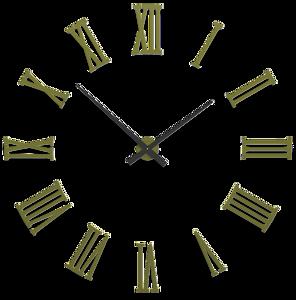 Picture of CALLEA DESIGN DA VINCI BIG MODULAR WALL CLOCK Ø124CM WHITE ROMAN NUMERALS OLIVE GREEN COLOURED