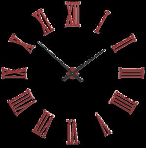 Picture of CALLEA DESIGN DA VINCI BIG MODULAR WALL CLOCK Ø124CM WHITE RUBY ROMAN NUMERALS