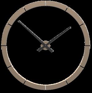 Picture of CALLEA DESIGN GIOTTO BIG WALL STICKER CLOCK Ø100CM WHITE COFFEE