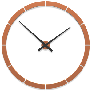 Picture of CALLEA GIOTTO BIG  MODULAR WALL CLOCK Ø100CM TERRACOTTA PAINTED
