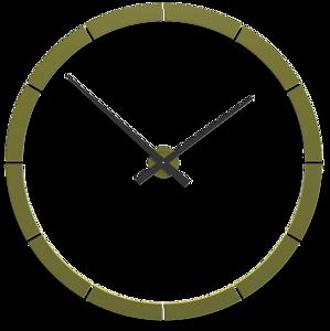 Picture of CALLEA DESIGN GIOTTO BIG WALL STICKER CLOCK Ø100CM OLIVE GREEN
