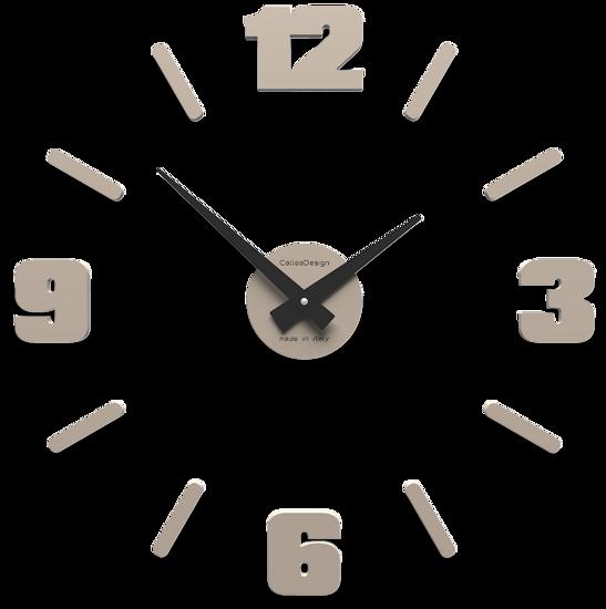 Picture of CALLEA MICHELANGELO MODULAR WALL STICKER CLOCK DOVE GREY COLOURED Ø50CM