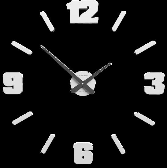 Picture of CALLEA MICHELANGELO MODULAR WALL STICKER CLOCK WHITE COLOURED