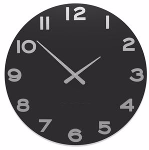Picture of CALLEA DESIGN SMARTY NUMBER MODERN WALL CLOCK BLACK PAINTED