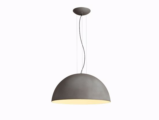 Picture of GIBAS RUGIADA DOME SUSPENSION LIGHT GREY CEMENT Ø40CM