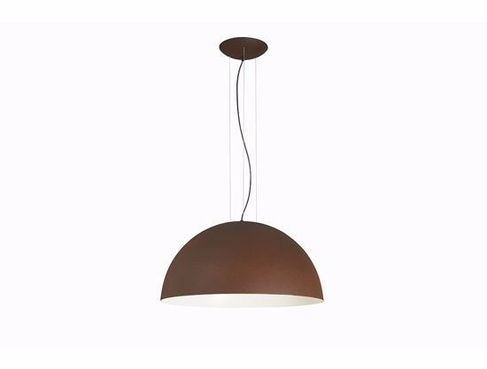 Picture of GIBAS RUGIADA CORTEN DOME SUSPENSION LIGHT Ø50CM