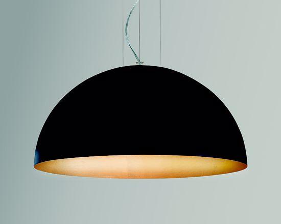 Picture of GIBAS RUGIADA DOME SUSPENSION LIGHT BLACK & GOLD Ø50CM