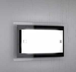 Picture of TOP LIGHT TRAY WALL LAMP GLASS BLACK