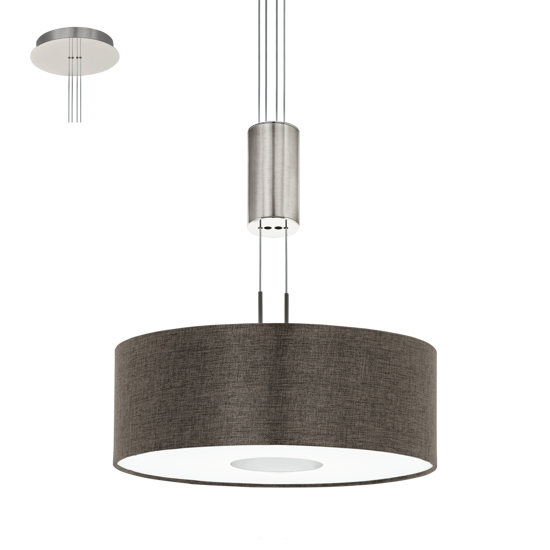 Picture of EGLO ROMAO 2 CEILING LED LIGHT Ø38CM BROWN FABRIC