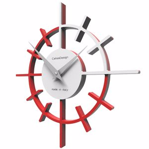 Picture of CALLEA CROSSHAIR ORIGINAL WALL CLOCK Ø29 IN FLAME RED COLOUR
