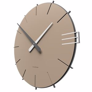 Picture of CALLEA DESIGN MIKE MODERN WALL CLOCK IN CAFFELATTE COLOUR