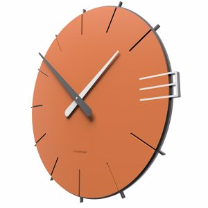 Picture of CALLEA DESIGN MIKE MINIMAL WALL CLOCK IN TERRACOTTA COLOUR