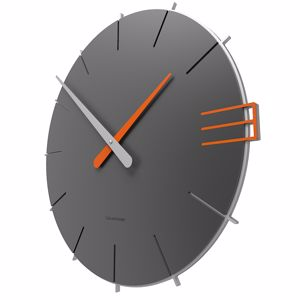 Picture of CALLEA DESIGN MIKE WALL CLOCK IN QUARTZ GREY COLOUR ORIGINAL STYLE