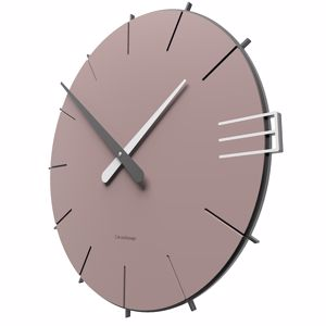 Picture of CALLEA DESIGN MIKE MINIMAL WALL CLOCK IN PLUM GREY COLOUR