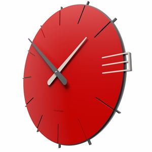 Picture of CALLEA DESIGN MIKE MODERN WALL CLOCK IN FLAME RED COLOUR