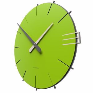 Picture of CALLEA DESIGN MIKE MODERN WALL CLOCK IN APPLE GREEN COLOUR