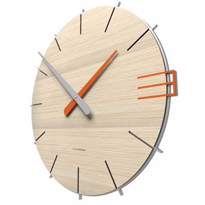 Picture of CALLEA DESIGN MIKE ORIGINAL WALL CLOCK IN PICKLED OAK COLOUR