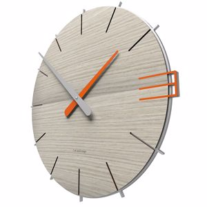 Picture of CALLEA DESIGN MIKE WALL CLOCK IN BREEZE OAK COLOUR ORIGINAL STYLE