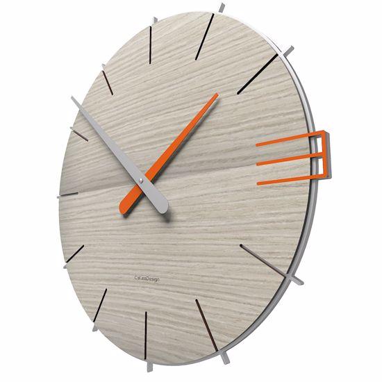 Picture of CALLEA DESIGN MIKE WALL CLOCK IN BREEZE OAK COLOUR ORIGINAL STYLE