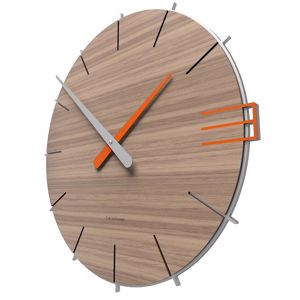 Picture of CALLEA DESIGN MIKE MINIMAL WALL CLOCK IN BLACK WALNUT COLOUR