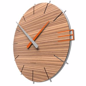Picture of CALLEA DESIGN MIKE WALL CLOCK ORIGINAL STYLE IN ZINGANA COLOUR