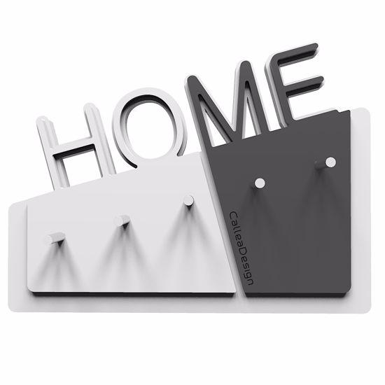 Picture of  CALLEA DESIGN HOME WALL KEY HOLDER IN QUARTZ GREY COLOUR ORIGINAL DESIGN