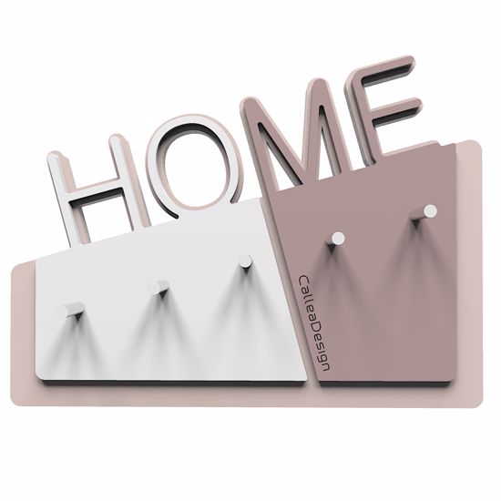 Picture of  CALLEA DESIGN HOME WALL KEY HOLDER IN PLUM GREY COLOUR MINIMAL DESIGN