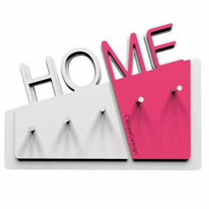 Picture of  CALLEA DESIGN HOME NEW WALL KEY HOLDER IN FUCHSIA COLOUR