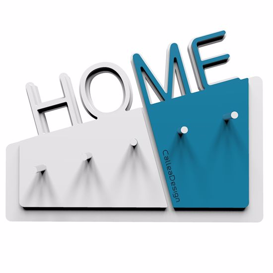 Picture of CALLEA DESIGN HOME WALL KEY HOLDER IN LIGHT BLUE COLOUR MODERN DESIGN